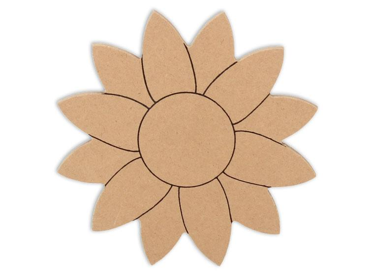 "Small Sunflower Plaque 6"" - The Artsy Soul"