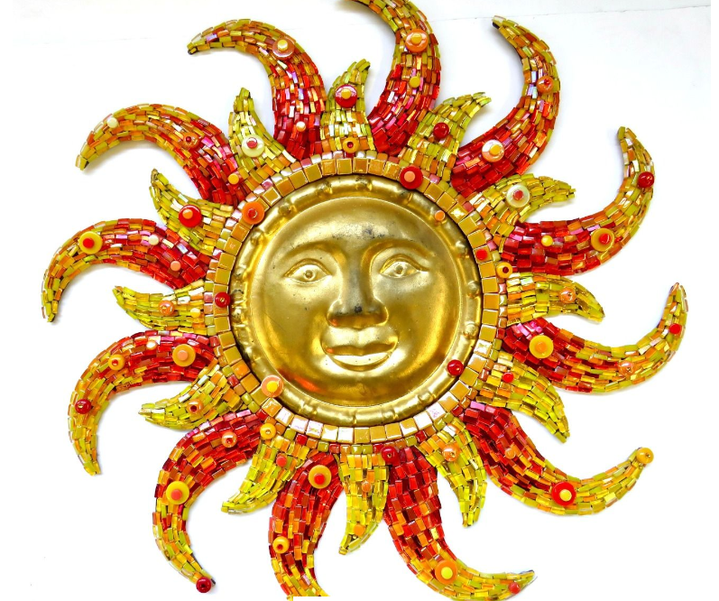 "Sun Mosaic DIY Kit 32"" - The Artsy Soul"
