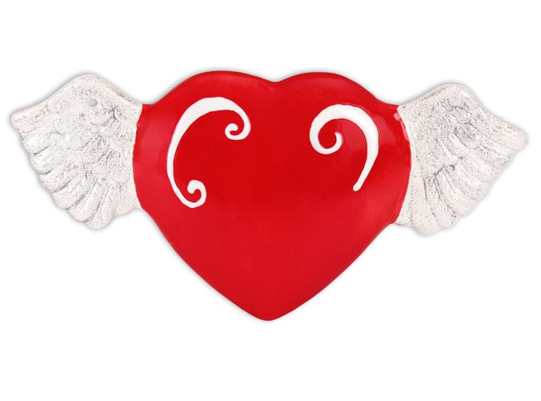 Winged Heart Plaque 4 - The Artsy Soul