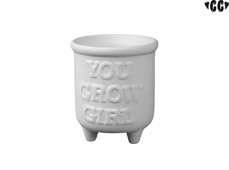 You Grow Girl Planter - The Artsy Soul