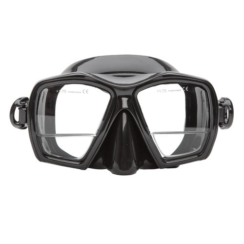 XS Scuba Gauge reader mask - black frame black skirt