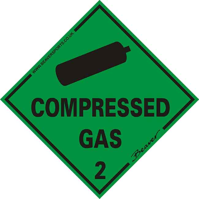 BEAVER COMPRESSED GAS STICKER
