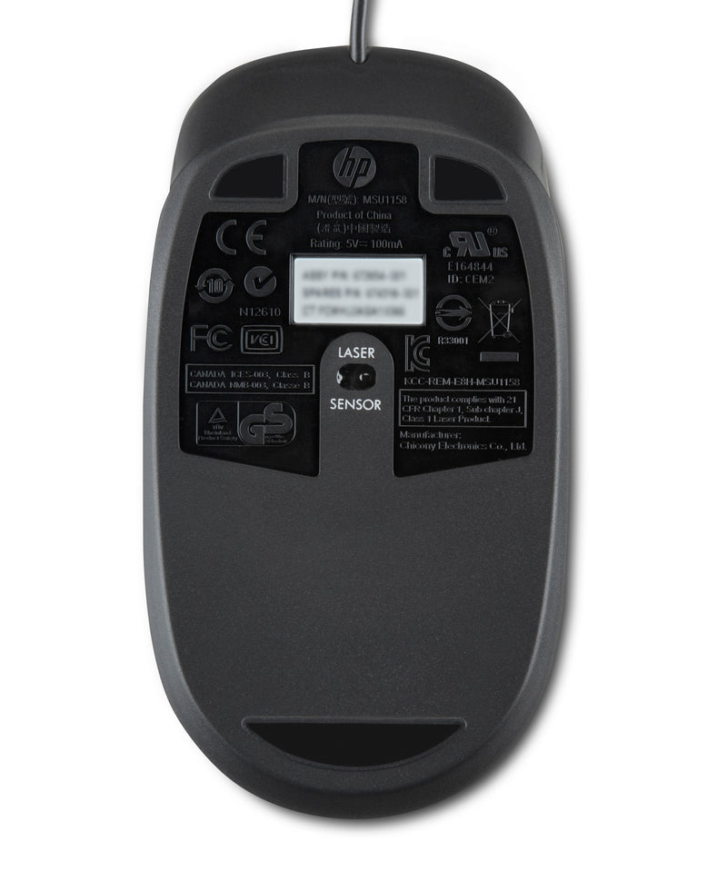 HP USB Optical Scroll mouse Ambidextrous USB Type-A Laser 1000 DPI