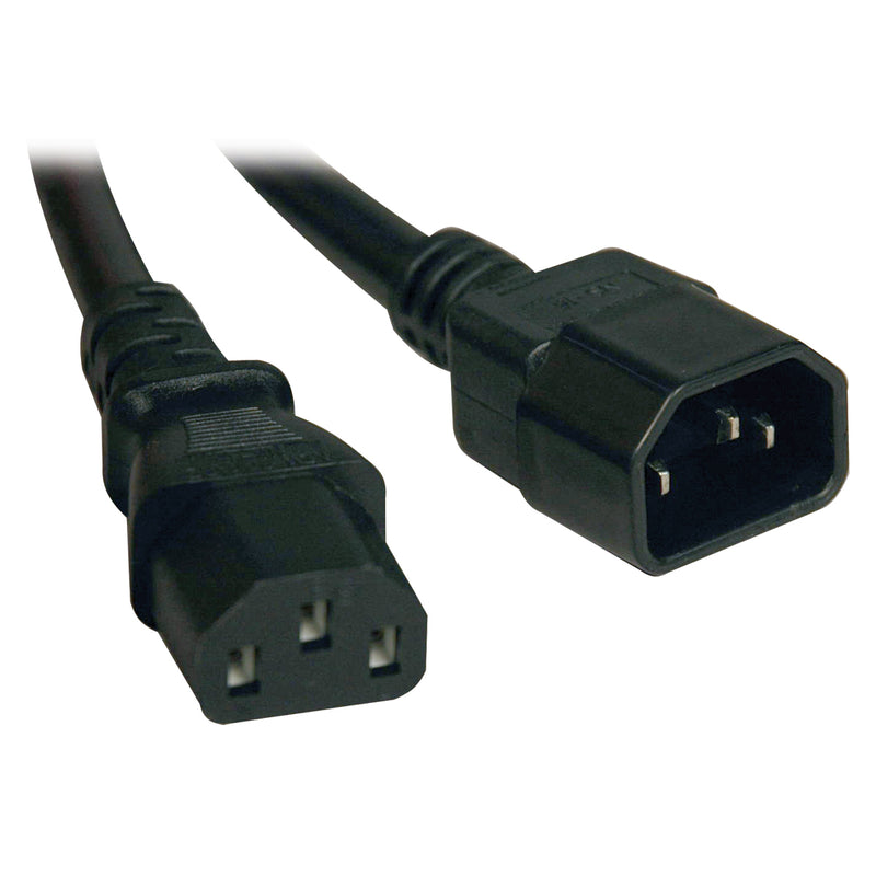 Tripp Lite Standard Computer Power Extension Cord Lead Cable, 10A, 18AWG (IEC-320-C14 to IEC-320-C13), 2.43 m (8-ft.)