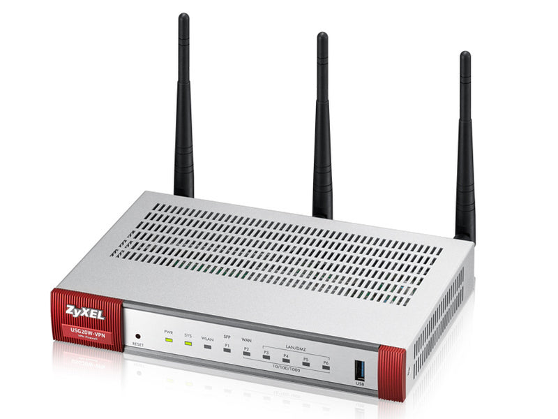 Zyxel USG20W-VPN-EU0101F wireless router Dual-band (2.4 GHz / 5 GHz) Gigabit Ethernet Grey, Red