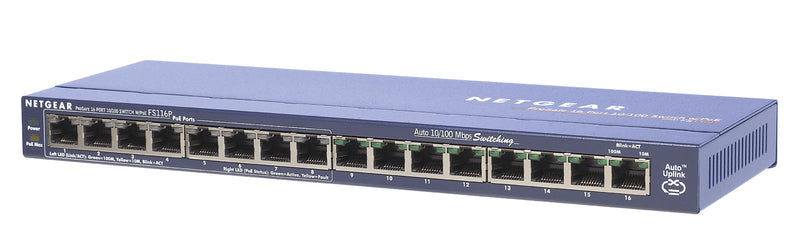 Netgear FS116PEU network switch Fast Ethernet (10/100) Power over Ethernet (PoE)