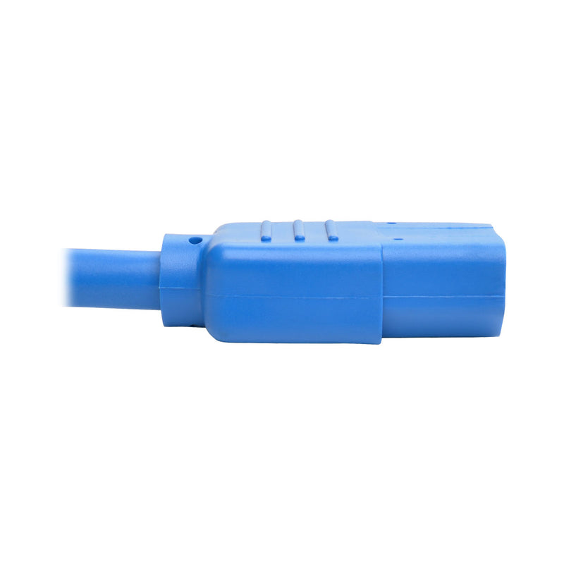 Tripp Lite Heavy-Duty Power Extension Cord, 15A, 14 AWG (IEC-320-C14 to IEC-320-C13), Blue, 0.61 m