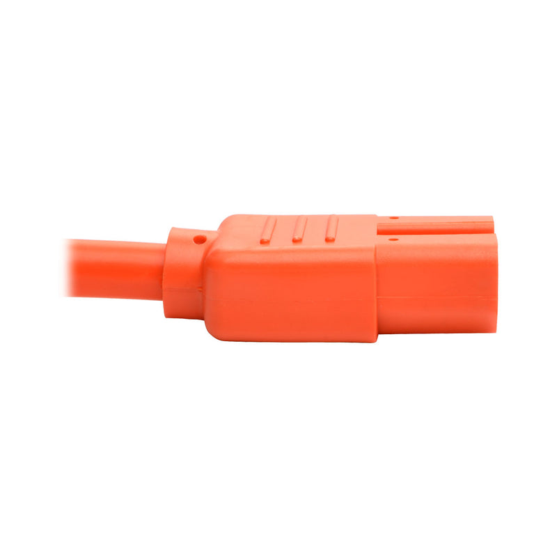 Tripp Lite Heavy-Duty Computer Power Cord, 15A, 14 AWG (IEC-320-C14 to IEC-320-C15), Orange, 0.91 m