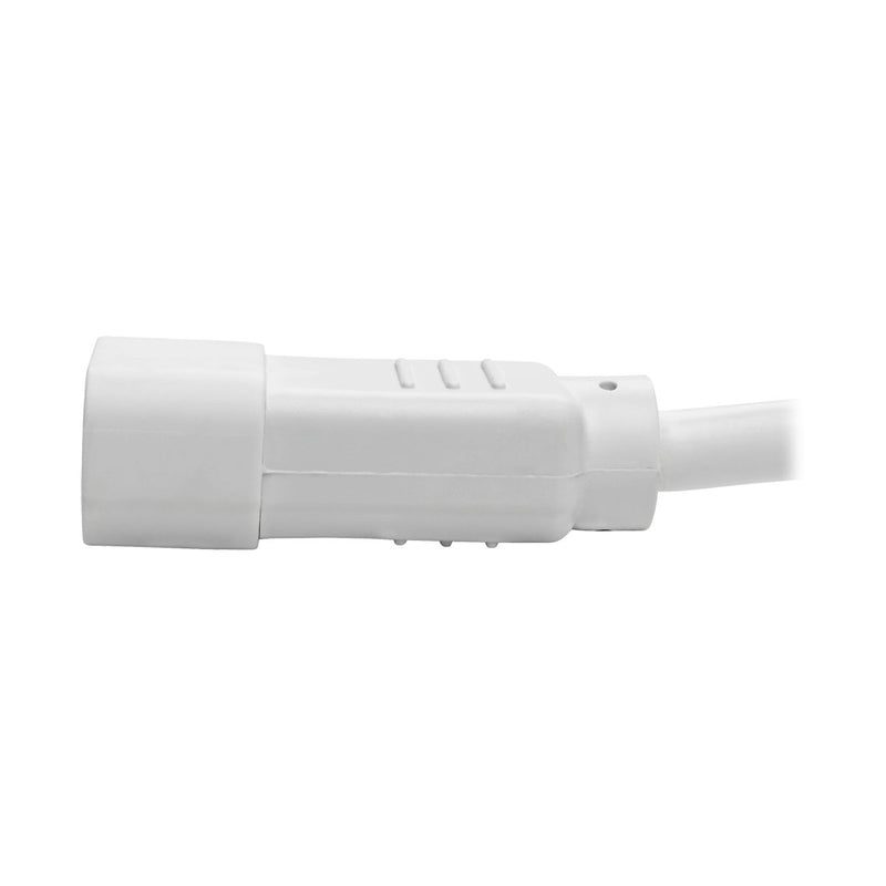 Tripp Lite Heavy-Duty Computer Power Cord, 15A, 14 AWG (IEC-320-C14 to IEC-320-C15), White, 0.91 m