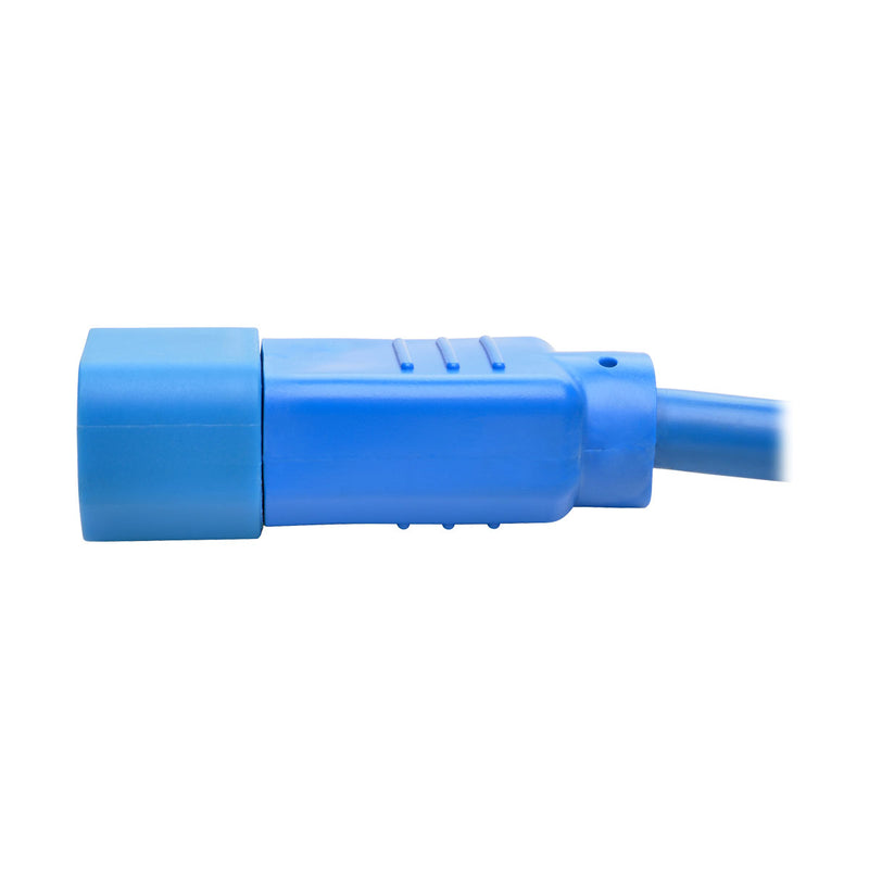 Tripp Lite Heavy-Duty Computer Power Cord, 15A, 14 AWG (IEC-320-C14 to IEC-320-C15), Blue, 1.83 m