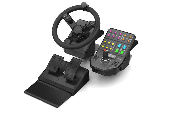 Logitech 945-000007 Gaming Controller Steering wheel + Pedals PC Analogue / Digital USB Black