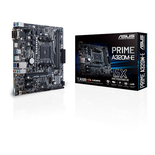 ASUS PRIME A320M-E motherboard AMD A320 Socket AM4 micro ATX