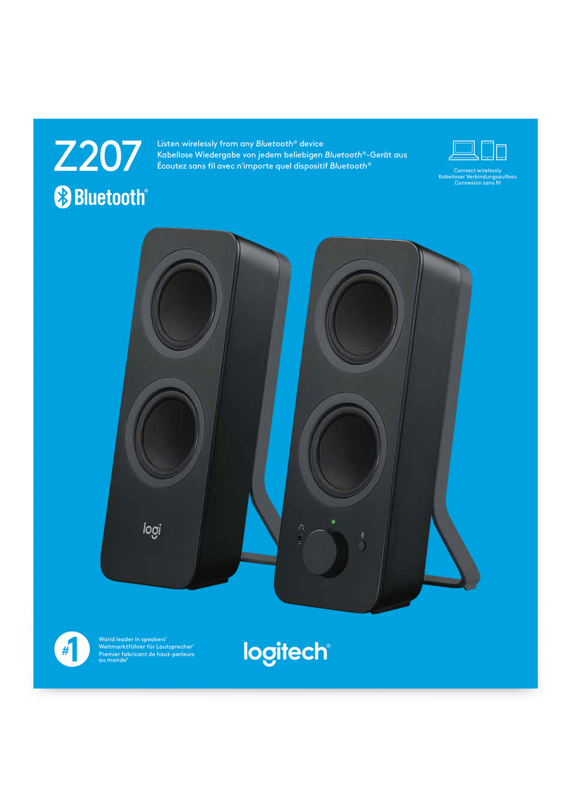 Logitech Z207 5 W Black Wired & Wireless