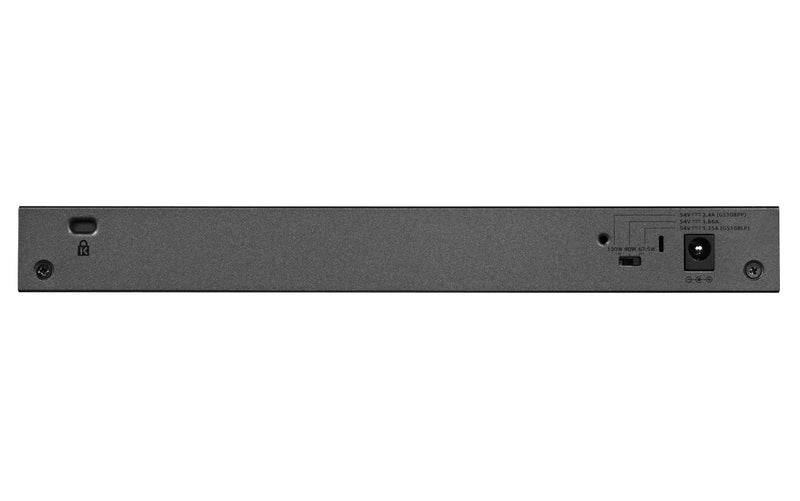 Netgear GS108LP Unmanaged Gigabit Ethernet (10/100/1000) Black, Grey 1U Power over Ethernet (PoE)