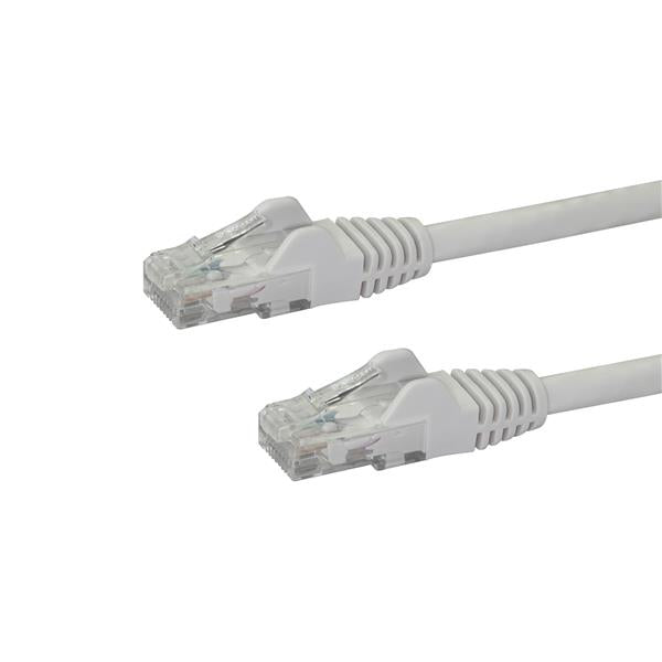 StarTech.com 100ft CAT6 Ethernet Cable - White CAT 6 Gigabit Ethernet Wire -650MHz 100W PoE++ RJ45 UTP Category 6 Network/Patch Cord Snagless w/Strain Relief Fluke Tested UL/TIA Certified