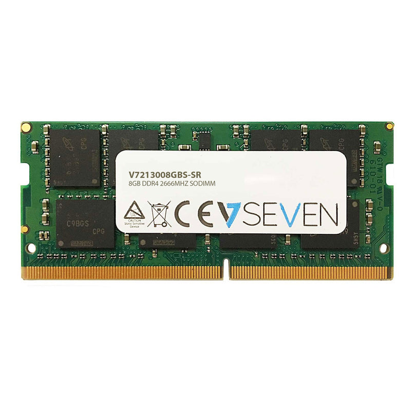 V7 8GB DDR4 PC4-21300 - 2666MHZ 1.2V SO DIMM Notebook Memory Module - V7213008GBS-SR