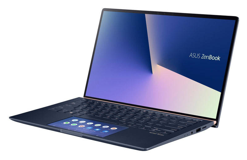 "ASUS ZenBook 14 UX434FL-AI022T notebook 35.6 cm (14"") 1920 x 1080 pixels 8th gen Intel® Core™ i7 16 GB LPDDR3-SDRAM 512 GB SSD NVIDIA® GeForce® MX250 Wi-Fi 5 (802.11ac) Windows 10 Home Blue"