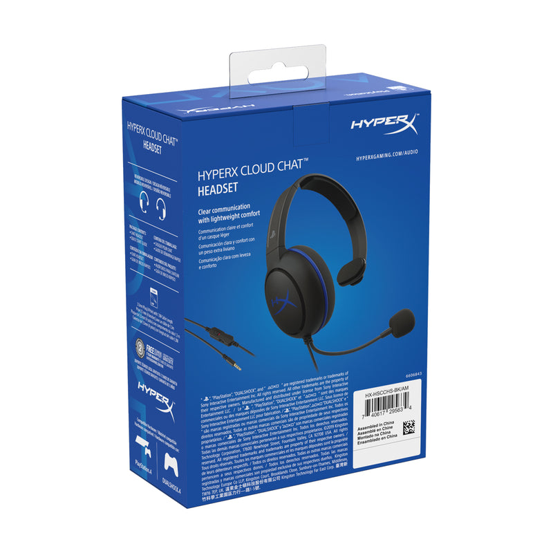 HyperX Cloud Chat Headset Head-band Black