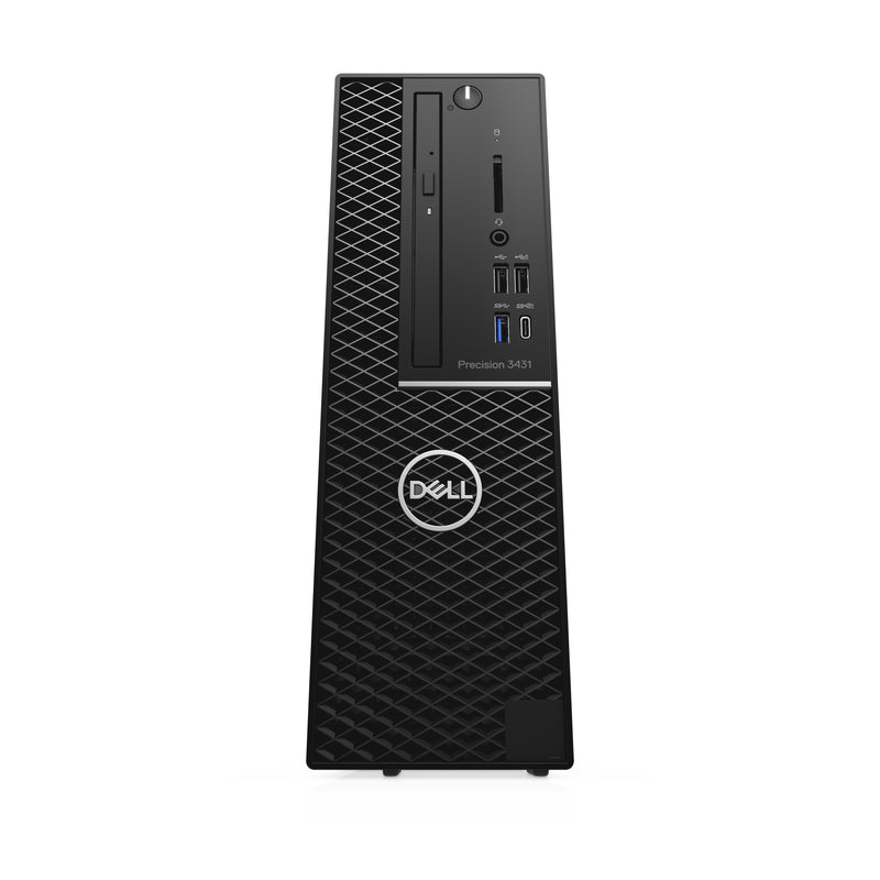 DELL Precision 3431 Intel Xeon E E-2224G 16 GB DDR4-SDRAM 256 GB SSD SFF Black Workstation Windows 10 Pro