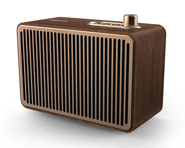 Philips TAVS500/00 portable speaker 10 W Mono portable speaker Gold, Wood