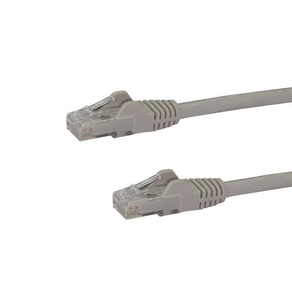 StarTech.com 7.5m CAT6 Ethernet Cable - Grey CAT 6 Gigabit Ethernet Wire -650MHz 100W PoE RJ45 UTP Network/Patch Cord Snagless w/Strain Relief Fluke Tested/Wiring is UL Certified/TIA