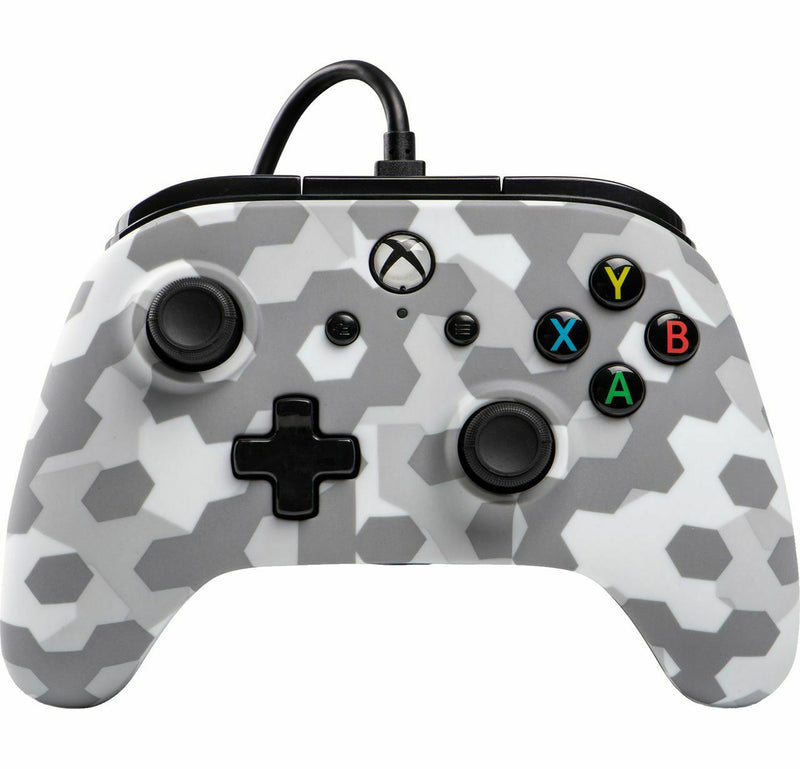 PowerA 1508486 Gaming Controller Gamepad Xbox One Analogue / Digital USB Camouflage, Grey, White