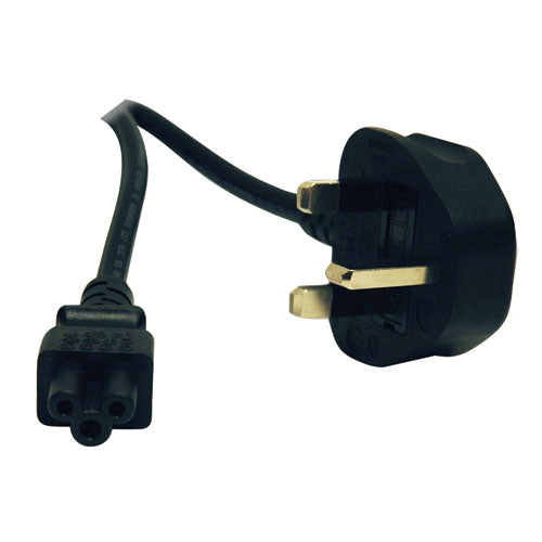 Tripp Lite Standard UK Computer Power Cord (C5 to BS-1363 UK Plug), 6-ft.
