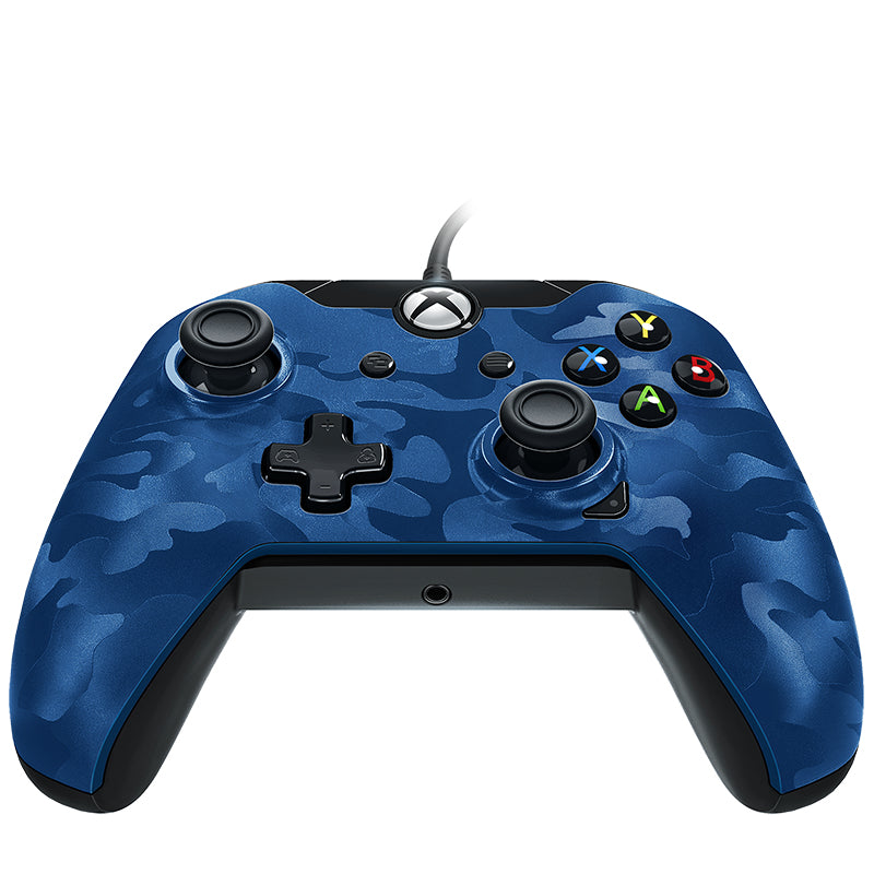 PDP 048-082-EU-CM02 Gaming Controller Gamepad PC, Xbox One, Xbox One S, Xbox One X Analogue / Digital USB Blue, Camouflage