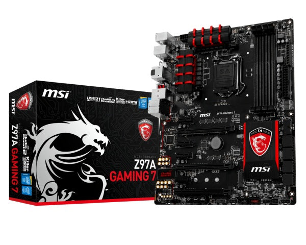 MSI Z97A GAMING 7 motherboard LGA 1150 (Socket H3) ATX Intel® Z97