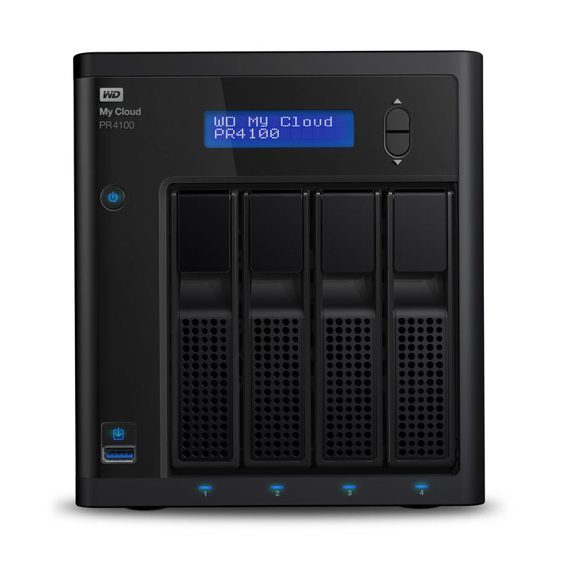 Western Digital My Cloud PR4100 NAS Desktop Ethernet LAN Black N3710