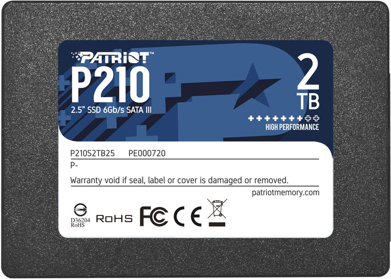 "Patriot Memory P210 2.5"" 2000 GB Serial ATA III"