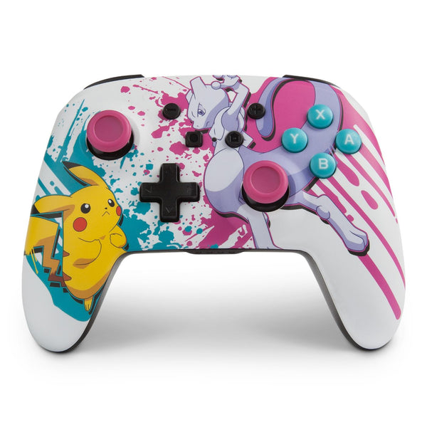 PowerA Pokémon Enhanced Wireless Gamepad Nintendo Switch Bluetooth Assorted colours, Blue, Pink, White, Yellow