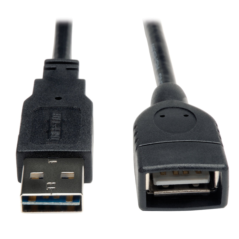 Tripp Lite Universal Reversible USB 2.0 Hi-Speed Extension Cable (Reversible A to A M/F), 0.31 m