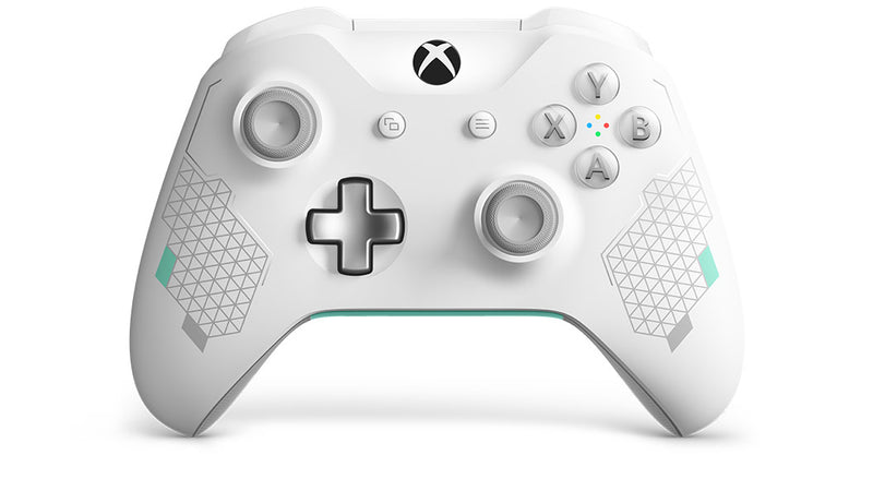 Microsoft Xbox Wireless Controller – Sport White Special Edition Gamepad PC, Xbox One Analogue / Digital Bluetooth Mint colour, White