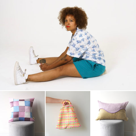 Collated image of LannyxStudio Fashion, Accessories and Homeware designs.