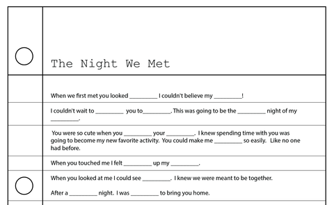 Lunya Mad Lib | The Night We Met