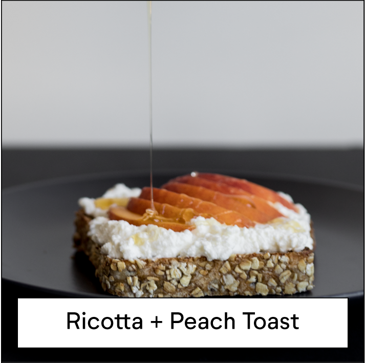 Ricotta and Peach Toast
