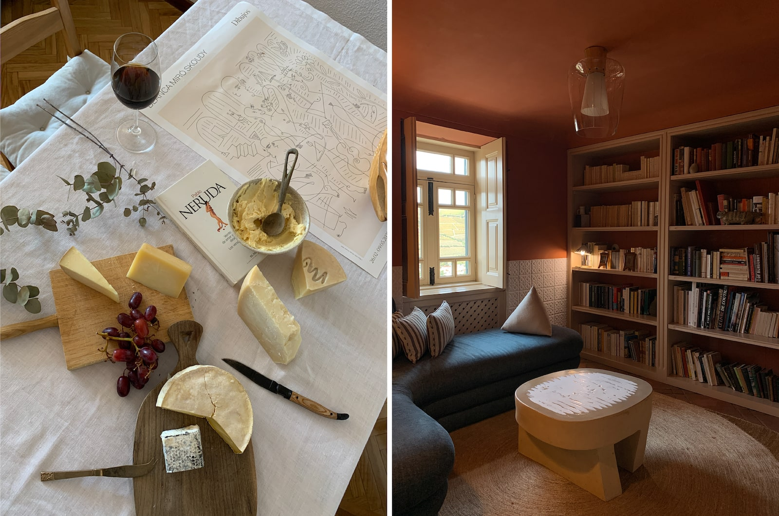 cheese and library