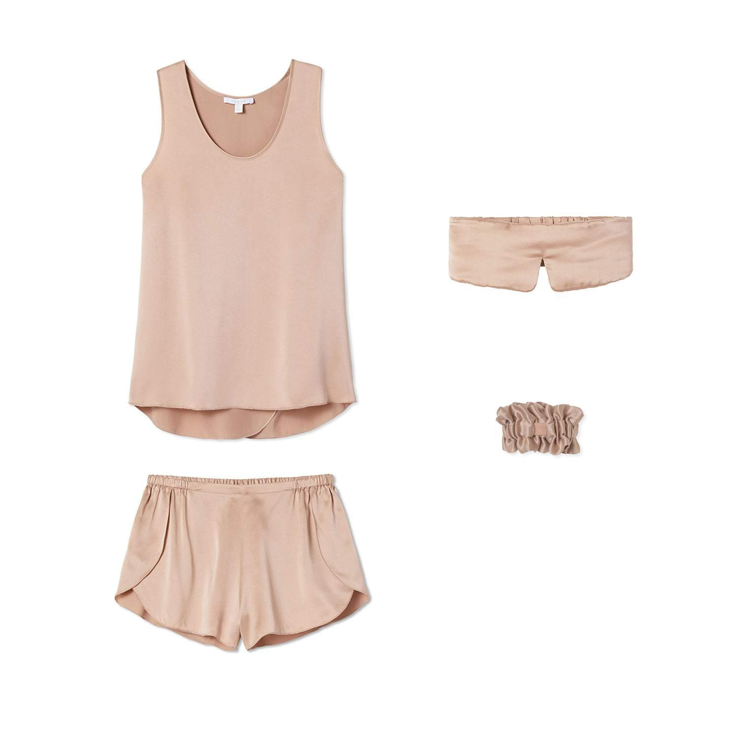 Lunya Sleepwear Washable Silk Dream Kit - #Bare