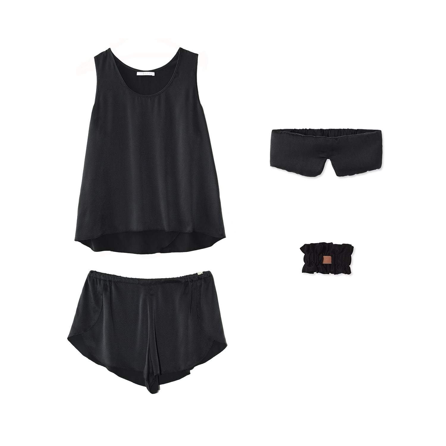 Lunya Sleepwear Washable Silk Dream Kit - #Black
