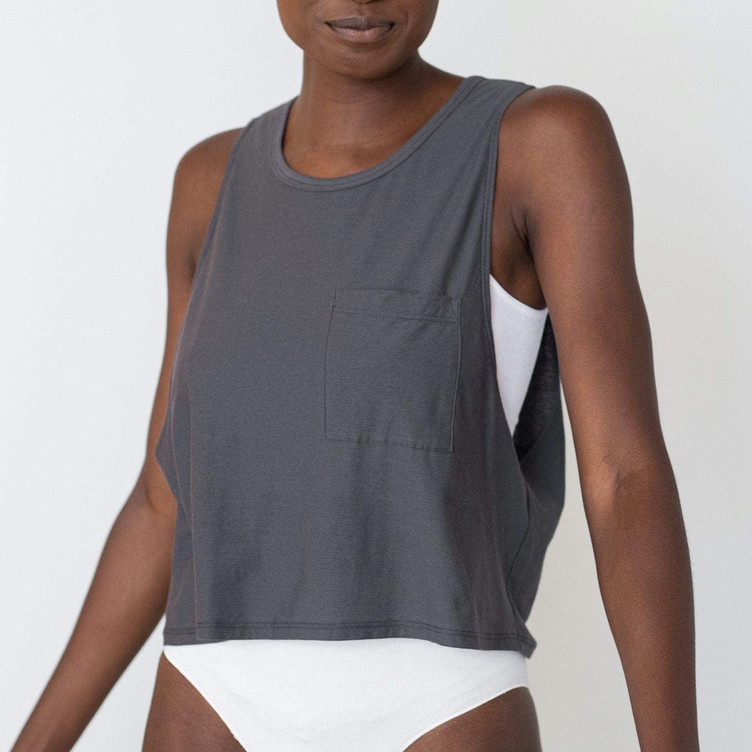 Lunya Sleepwear Cool Tank - #Eclipse