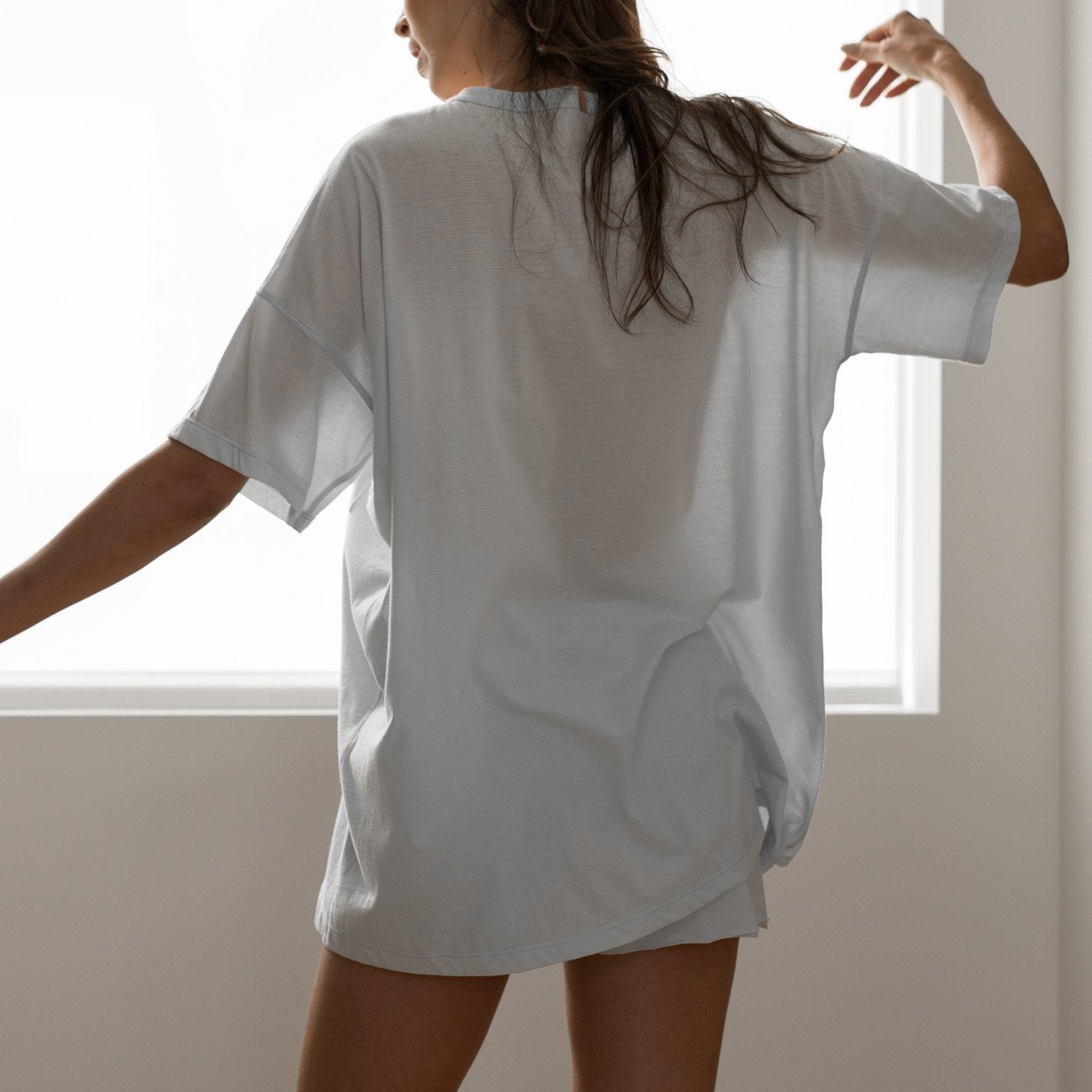 Lunya Sleepwear Cool Every Body Tee - #Brisk
