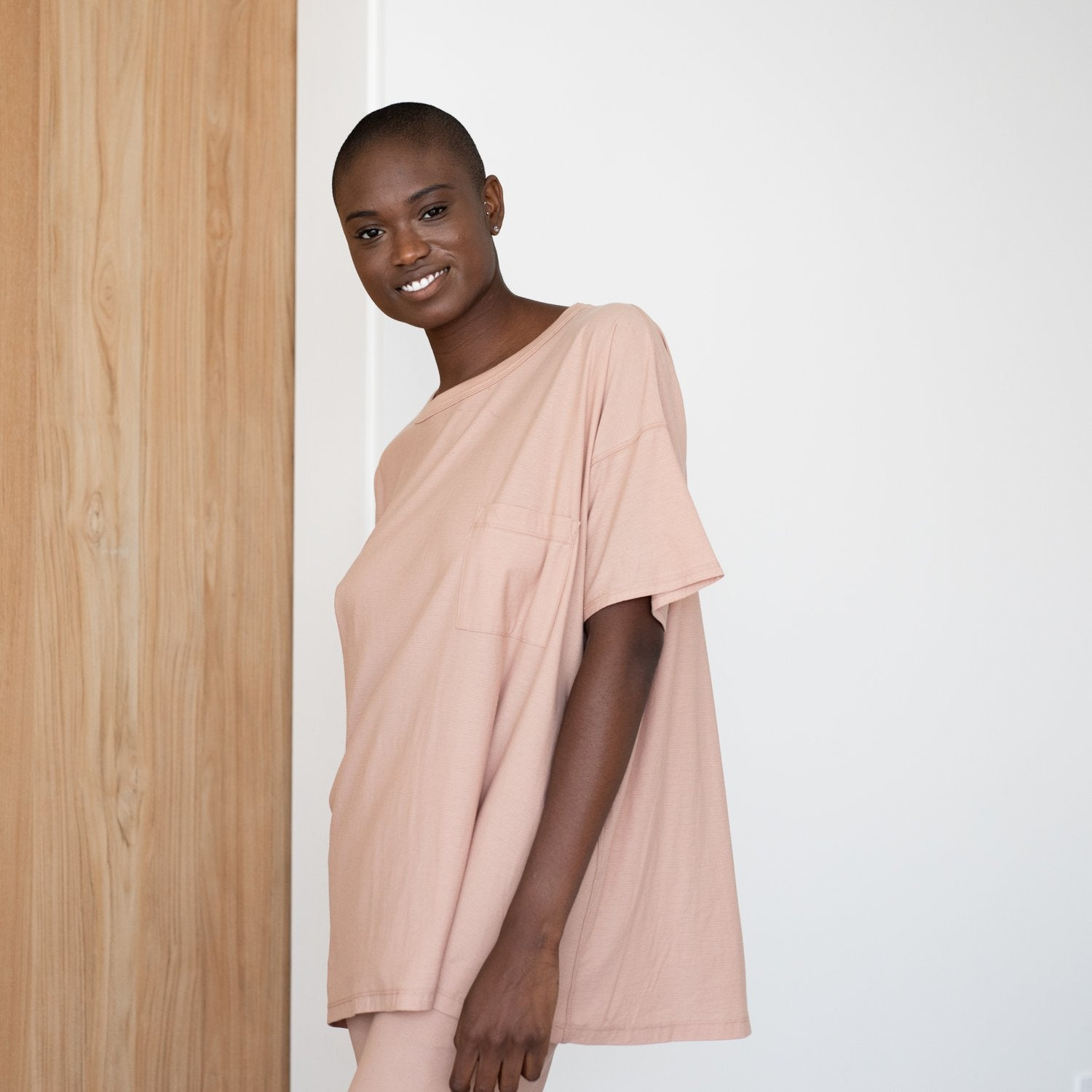 Lunya Sleepwear Cool Every Body Tee - #Bare