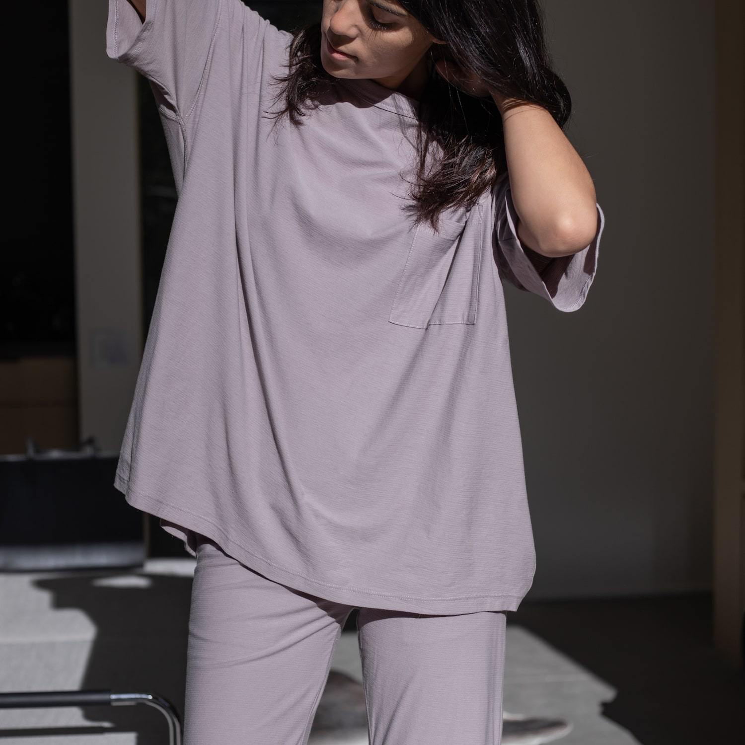 Lunya Sleepwear Cool Every Body Tee - #Mink