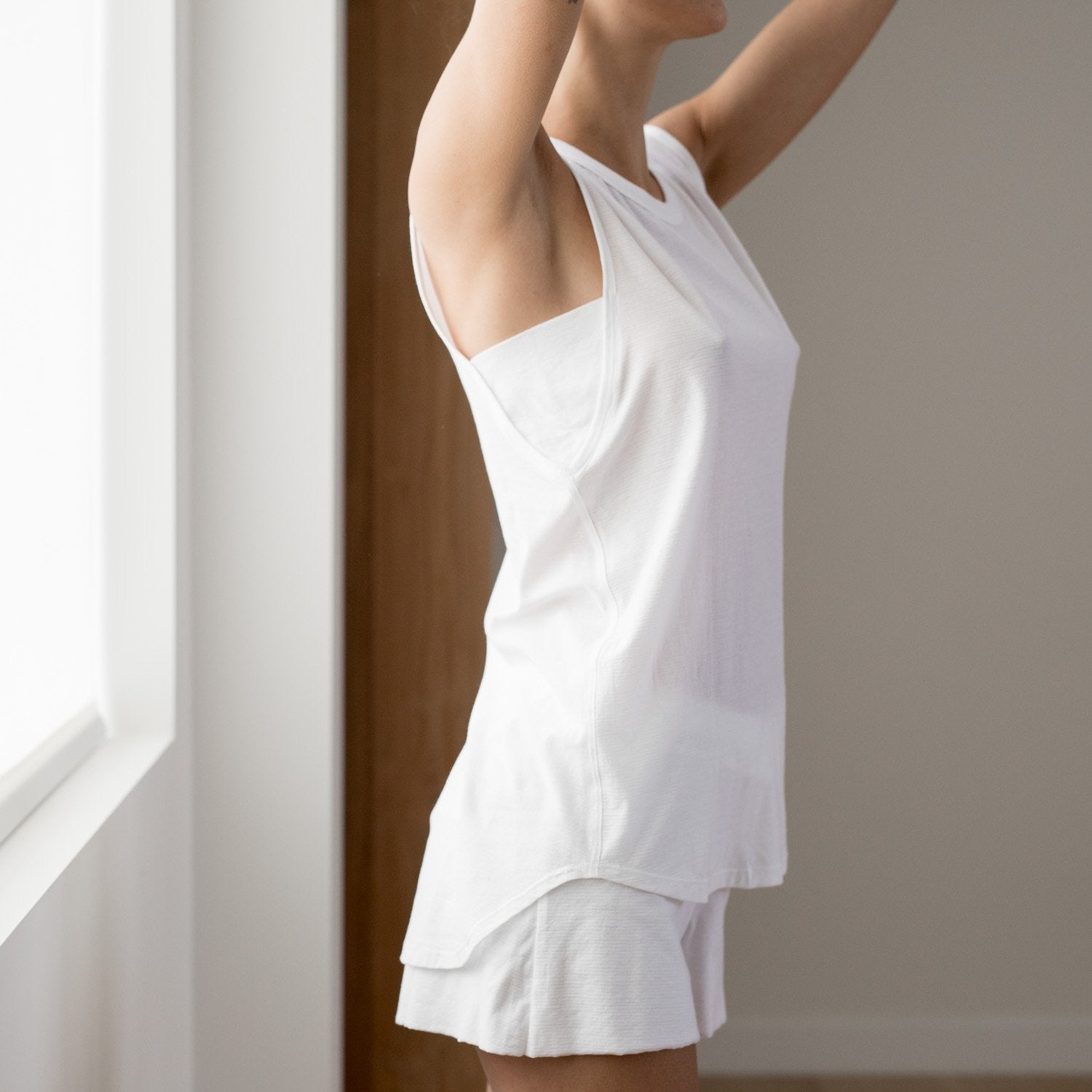 Lunya Sleepwear Cool Muscle Tee - #White