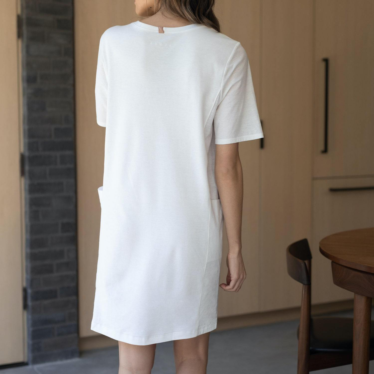 Lunya Sleepwear Cool Paneled Short Dress - #White