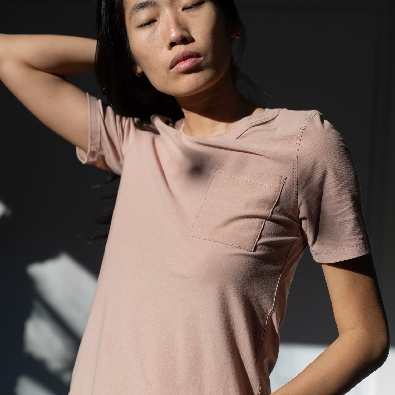 Lunya Sleepwear Cool Short Sleeve Tee - #Bare