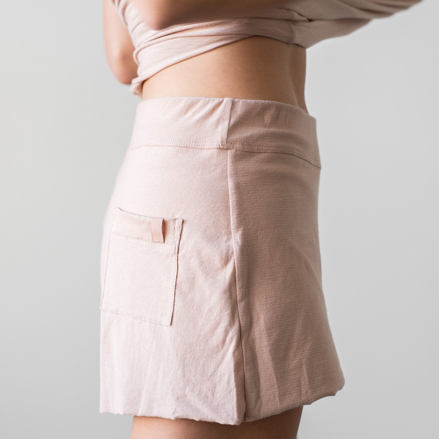 Lunya Sleepwear Cool Short - #Bare