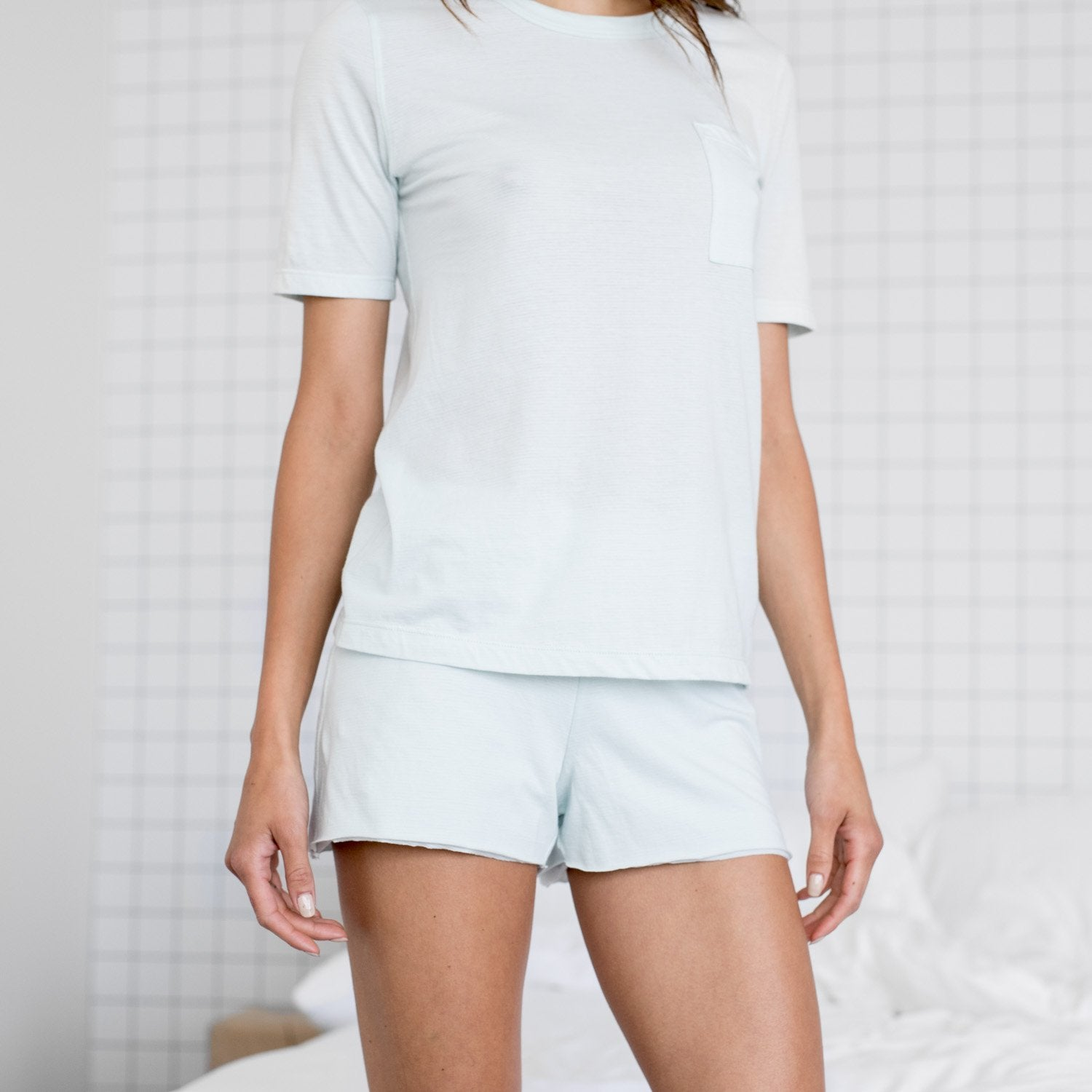 Lunya Sleepwear Cool Short - #Brisk