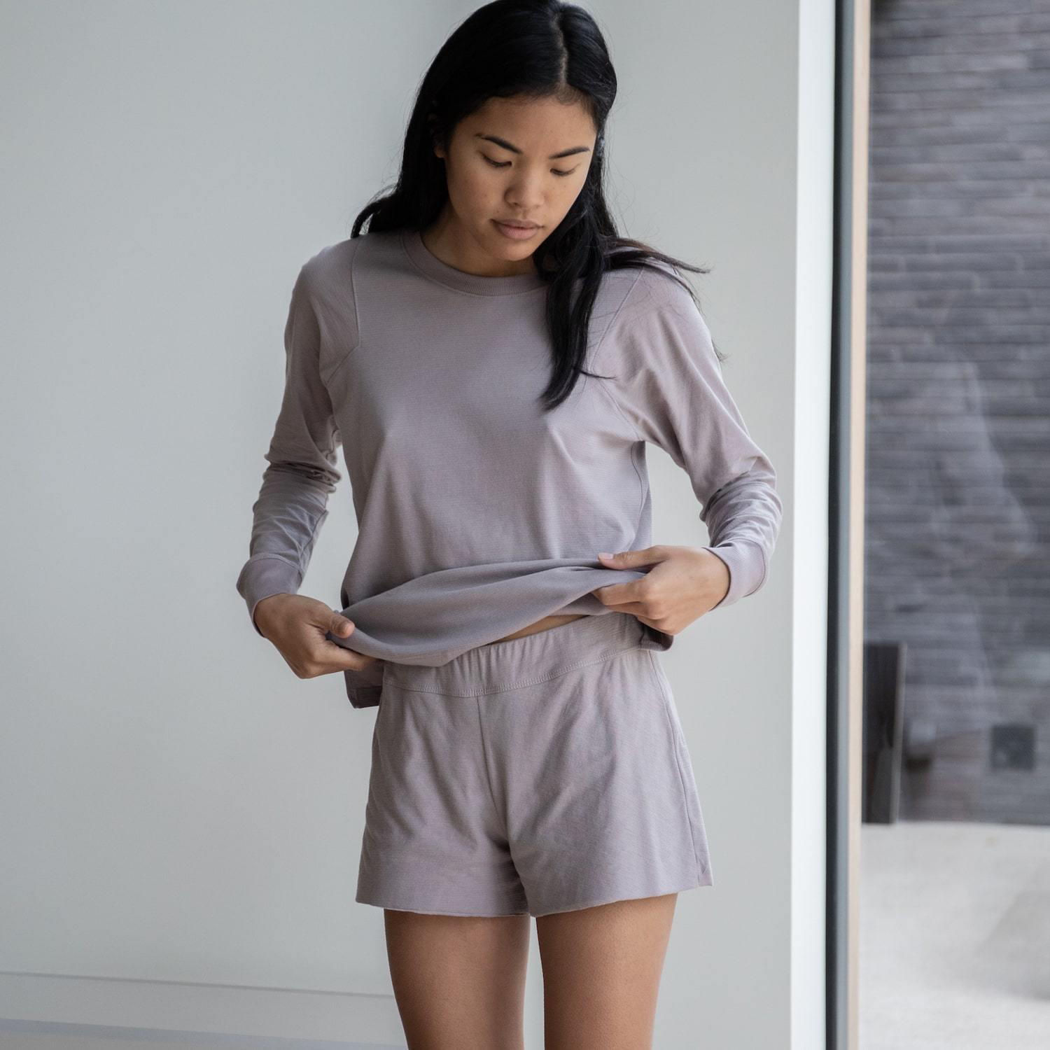Lunya Sleepwear Cool Short - #Mink